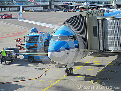 Schiphol Airport, Amsterdam, Netherlands. Editorial Stock Photo