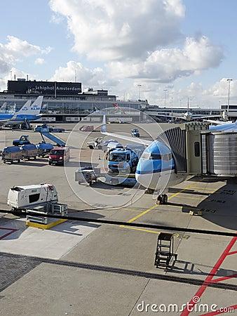 Schiphol Airport, Amsterdam, Netherlands. Editorial Photo