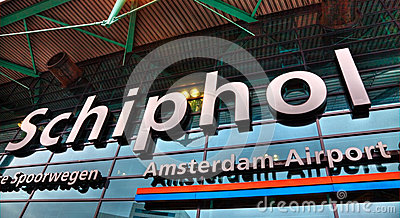 Schiphol Amsterdam Airport- Detail Editorial Photography