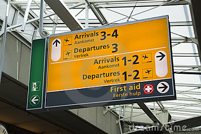 Schiphol information Editorial Stock Photo