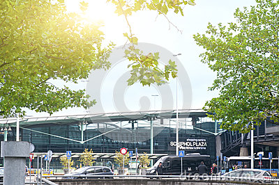 Schiphol plaza shopping center in Airport Schiphol Editorial Stock Photo