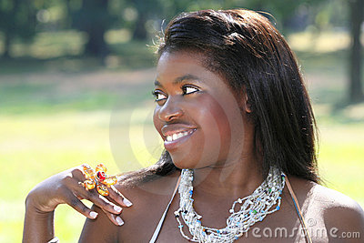Schitterende Afrikaanse Amerikaanse Vrouw, Portret