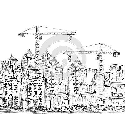 Schizzo dell 39 edificio e della costruzione moderni for Costo della costruzione dell edificio