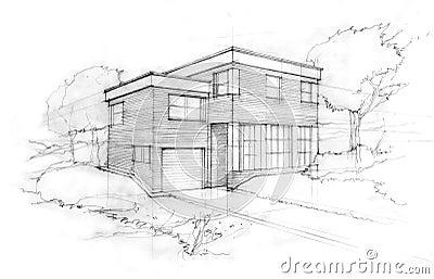 Schizzo di un architetto immagine stock libera da diritti for Schizzo di piani di casa gratuiti