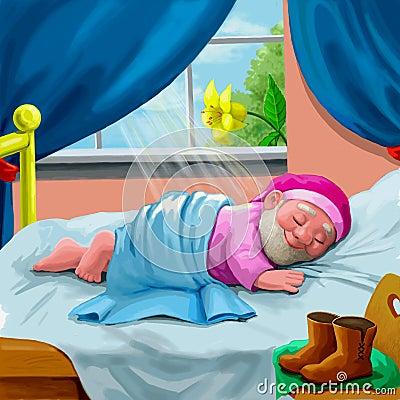 Schlafender Gnome