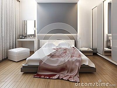 Schlafzimmer Im Orientalischen Artlicht Mit Den Roten Und Gelben ...