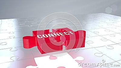 Schließen Sie das zackige Fallen in Platz an lizenzfreie abbildung