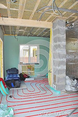 Isolierender boden mit polystyren und beton stockfoto   bild: 80522913