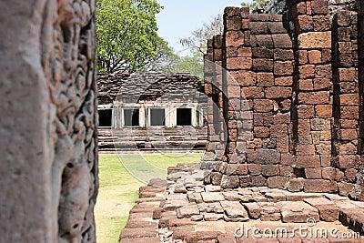 Schloss-Felsen Khmer Art.