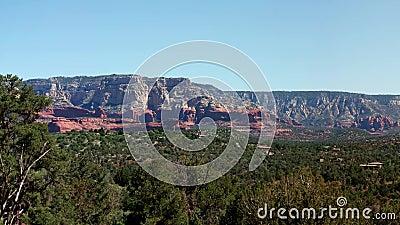 Schloss-Felsen in Sedona, Arizona, USA stock video footage