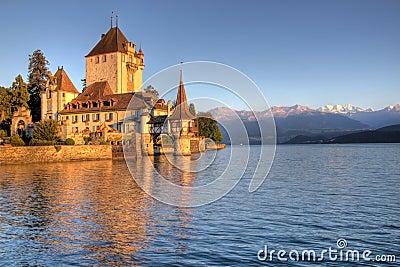 Schloss Oberhofen on Thun Lake, Switzerland
