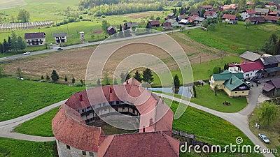 Schloss Ribnik in Kroatien stock footage
