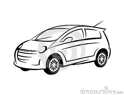 sch ma voiture photographie stock libre de droits image 32520387. Black Bedroom Furniture Sets. Home Design Ideas