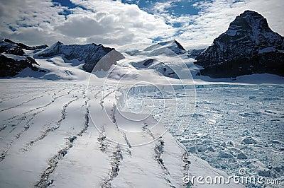 Schmelzender antarktischer Gletscher