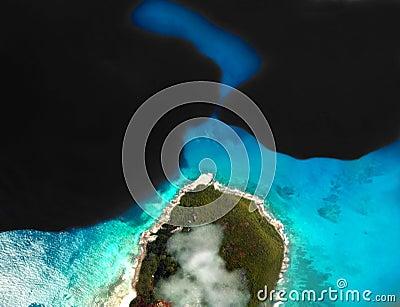 Schmierölstreuung auf dem Meer