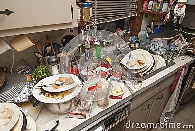 Schmutzige Teller