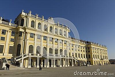 Schönbrunn Palace in Vienna Editorial Photography
