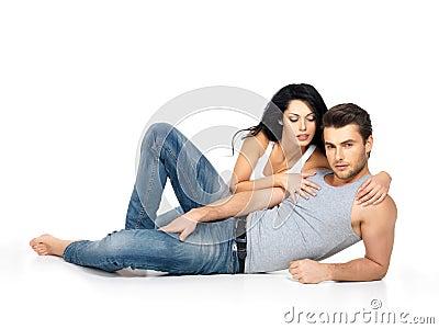 Schöne sexy Paare in der Liebe