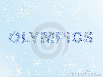 Schnee-Olympische Winterspiele