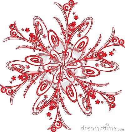 Red Snowflake Clip Art Schneeflocke stockfotos