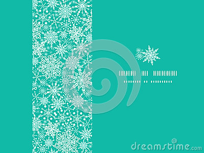 Schneeflocken-Beschaffenheits-horizontaler Rahmen nahtlos