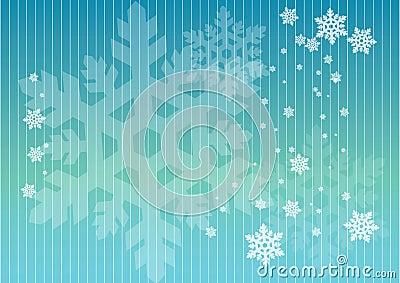 Schneeflocken in den Zeilen
