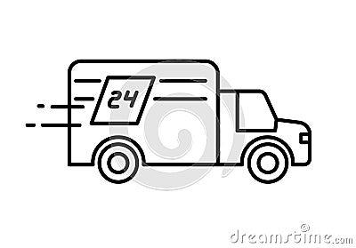schnelle lieferung 24 stunden tauschen logo oder ikone vektor abbildung bild 71076085. Black Bedroom Furniture Sets. Home Design Ideas