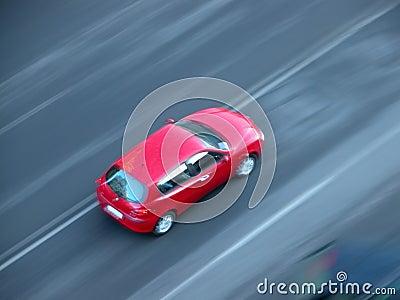 Schnelles Schnellfahrenauto