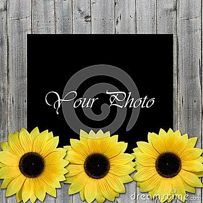 sch ner rahmen f r foto mit sonnenblumen lizenzfreie stockfotografie bild 5746977. Black Bedroom Furniture Sets. Home Design Ideas
