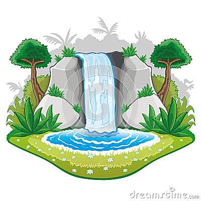 Schönes Karikatur waterwall.