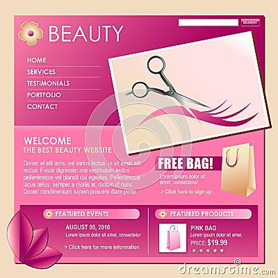 Schönheits-Art-Haar-Geschäfts-Schablone
