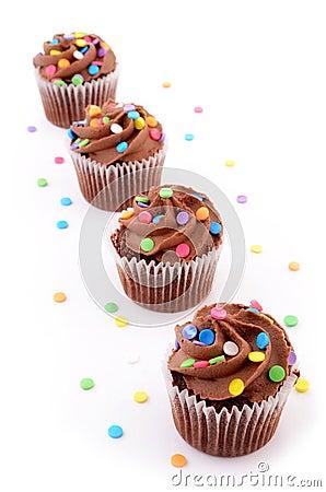 Schokoladenkleine kuchen