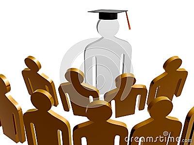 Scholar leader icon symbol