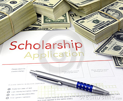 Scholarship Application Form And Money Royalty Free Stock Photos - Image: 28379858