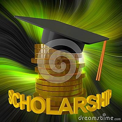 Free Scholarship Fund And Graduation Symbol Royalty Free Stock Photo - 14078435