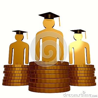 Scholarship fund and graduation symbol