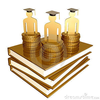 Scholarship and graduation golden books symbol