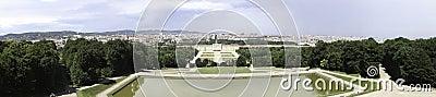Schonbrunn Palace Garden Panorama