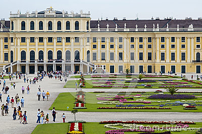 Schonbrunn Palace in Vienna Editorial Image