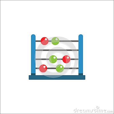 School abacus flat icon, education and school Vector Illustration