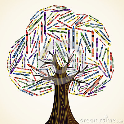 School art education concept tree