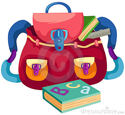 School bag with book