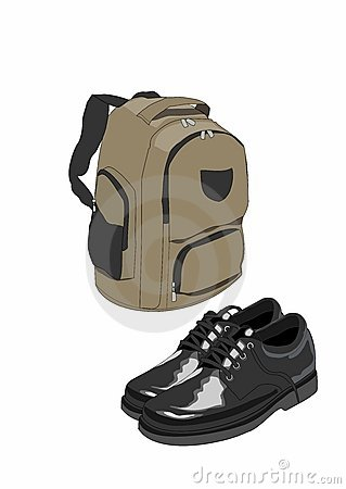 School bag and shoes