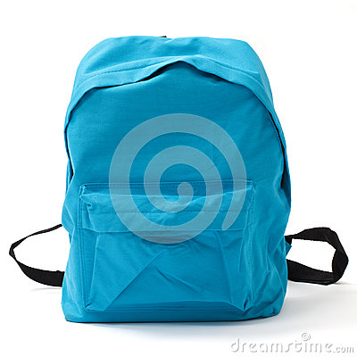 Free School Bag With Clipping Path Stock Photography - 43624262
