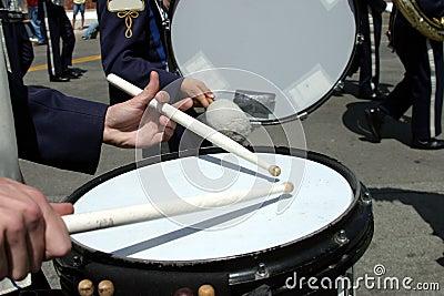 School band at parade Editorial Stock Photo