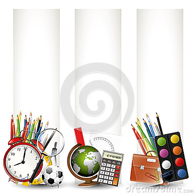 Free School Banners Royalty Free Stock Photos - 31613328