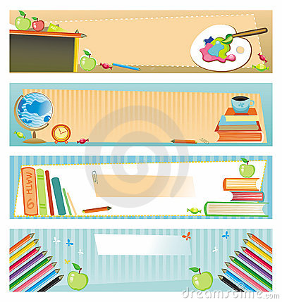 Free School Banners Royalty Free Stock Images - 6035009