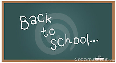 School blackboard back to school