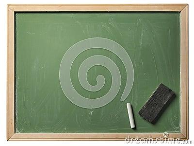 School blackboard, isolated
