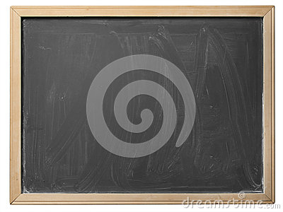 School blackboard, isolated